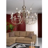 Franklite Carousel Ceiling Light - 15 Light, Bronze