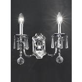 Franklite Taffeta Chandelier Wall Light - 2 Light, Chrome