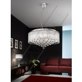 Franklite FL2161/8 Spirit 8 Light Pendant (600mm)