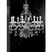 Franklite Chiffon Chandelier - 8 Light, Chrome, Crystal