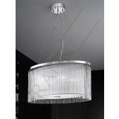 Franklite Eros (600mm x 400mm) Pendant Light - 4 Light, Chrome