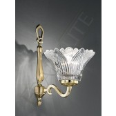 Franklite Castilla Single Wall Light - Polished Cast Brass, Crystal Glass sold Separately