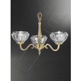 Franklite Castilla Ceiling Light - 3 Light, Polished Brass, Shades sold Separately