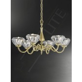 Franklite Castilla Ceiling Light - 6 Light, Polished Brass, Glass sold Separately