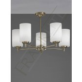 Franklite Decima Semi Flush Ceiling Light - 5 Light, Bronze, With Glasses