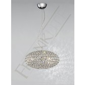 Franklite Marquesa Pendant Light - 3 Light, Polished Chrome