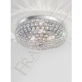 Franklite Marquesa Flush Ceiling Light - 3 Light, Polished Chrome