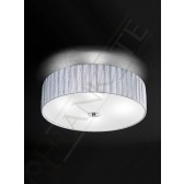 Franklite Lucera Ceiling Light - 4 Light, Satin Nickel, Complete with Silver Shade