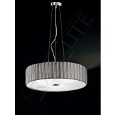 Franklite Lucera Pendant Light - 4 Light, Satin Nickel, Complete with Shade, (low energy)