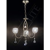 Franklite Sherrie Ceiling Light - 3 Light, Bronze, Complete with Glass Shades