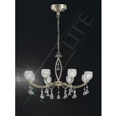 Franklite Sherrie Ceiling Light - 8 Light, Bronze, Complete with Glass Shades