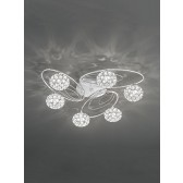 Franklite FL2325/6 Spirelle 6-Light Ceiling Flush