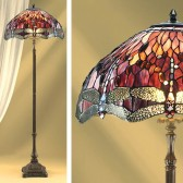 Interiors1900 Red Dragonfly Floor Lamp