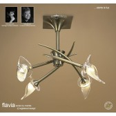 Flavia Semi Ceiling 4 Light Round Antique Brass