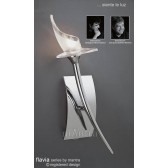 Flavia Wall Lamp 1 Light Polished Chrome
