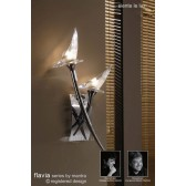 Flavia Wall Lamp 2 Light Polished Chrome