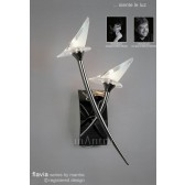 Flavia Wall Lamp 2 Light Black Chrome