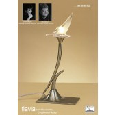Flavia Table Lamp 1 Light Antique Brass
