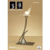 Flavia Table Lamp 1 Light Antique Brass