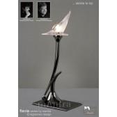 Flavia Table Lamp 1 Light Black Chrome