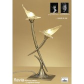 Flavia Table Lamp 2 Light Antique Brass