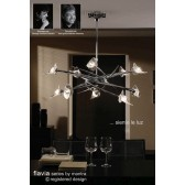 Flavia Telescopic Pendant Up-Down 10 Light Round Polished Chrome