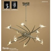 Flavia Telescopic Pendant Up-Down 10 Light Round Antique Brass