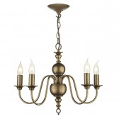 Flemish Ceiling Light - 5 Light Matt Bronze