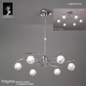 Fragma Pendant 6 Light Polished Chrome