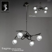 Fragma Pendant 4 Light Black Chrome