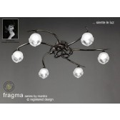 Fragma Ceiling 6 Light Black Chrome