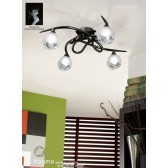 Fragma Ceiling 4 Light Black Chrome