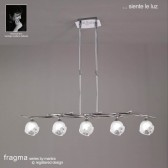Fragma Pendant Line 5 Light Polished Chrome