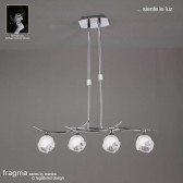 Fragma Pendant Line 4 Light Polished Chrome
