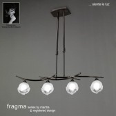 Fragma Pendant Line 4 Light Black Chrome
