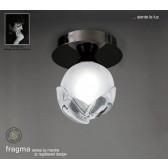 Fragma Ceiling 1 Light Black Chrome