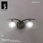 Fragma Wall 2 Light Black Chrome Switched