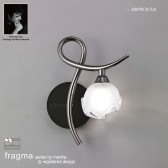 Fragma Wall 1 Light Right Black Chrome Switched