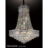 Diyas Frances Pendant 14 Light Chrome/Crystal