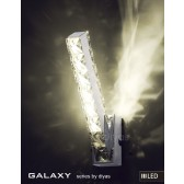 Diyas Galaxy Wall Lamp 3600K 6X0.5W LED Light Chrome/Crystal Vertical