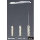 Diyas Galaxy 3 Drop Pendant 3600K LED 18X0.5W Chrome/Crystal