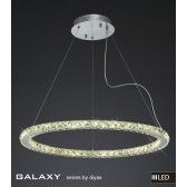 Diyas Galaxy Large Round Pendant 3600K 72X0.5W LED Chrome/Crystal