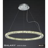 Diyas Galaxy Large Round Pendant 3600K 72X0.5W LED Chrome/Crystal