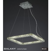 Diyas Galaxy Small Square Pendant 3600K 52X0.5W LED Light Chrome/Crystal