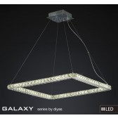 Diyas Galaxy Large Square Pendant 3600K 72X0.5W LED Light Chrome/Crystal