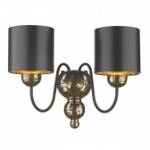 Garbo Wall Light Bronze - Black and Bronze Shade