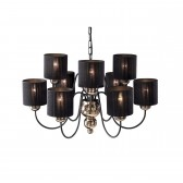 Garbo Ceiling Light - 9 Light Bronze/Black