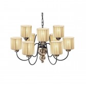 Garbo Ceiling Light - 9 Light Bronze/Gold