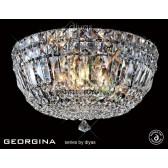 Diyas Georgina Ceiling 3 Light Polished Chrome/Crystal