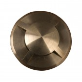 Garden Zone GZ/FUSION10 Fusion 4 direction ring in-ground Light - Solid Natural Brass